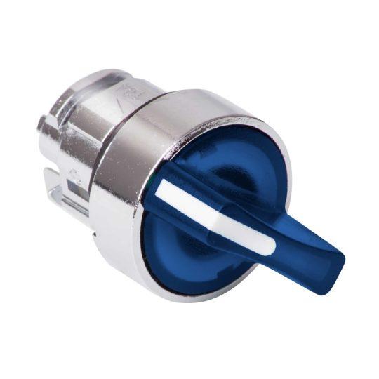 Schneider ZB4BK1463 Harmony fém világító választókapcsoló fej, Ø22, 2 állású, kék, jobbról visszatérő