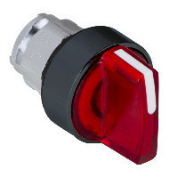 Schneider ZB4BK17437 Harmony fém világító választókapcsoló fej, Ø22, 3 állású, piros, balról középre visszatérő, fekete perem