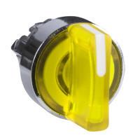 Schneider ZB4BK1783 Harmony fém világító választókapcsoló fej, Ø22, 3 állású, sárga, balról középre visszatérő