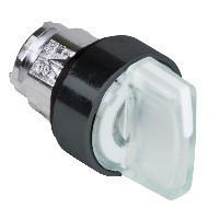 Schneider ZB4BK18137 Harmony fém világító választókapcsoló fej, Ø22, 3 állású, fehér, jobbról közép visszatérő, fekete perem