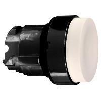 Schneider ZB4BL17 Harmony fém nyomógomb fej, Ø22, kiemelkedő, fehér, visszatérő, fekete perem