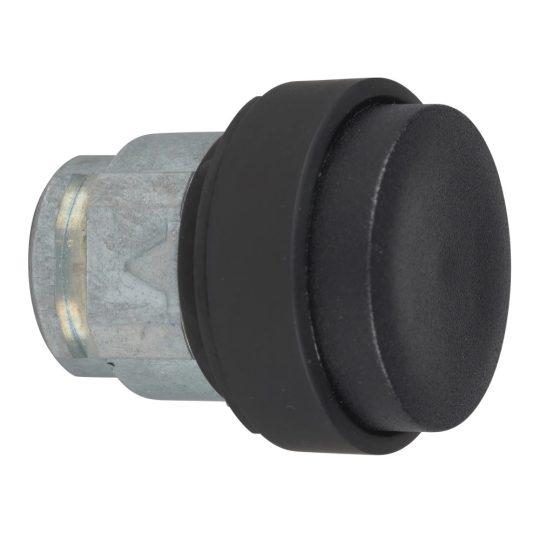 Schneider ZB4BL27 Harmony fém nyomógomb fej, Ø22, kiemelkedő, fekete, visszatérő, fekete perem