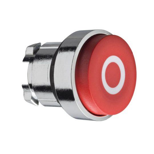 """Schneider ZB4BL432 Harmony fém nyomógomb fej, Ø22, kiemelkedő, piros, """"O"""""""