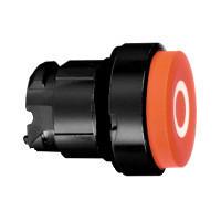 """Schneider ZB4BL4327 Harmony fém nyomógomb fej, Ø22, kiemelkedő, piros, """"O"""", fekete perem"""