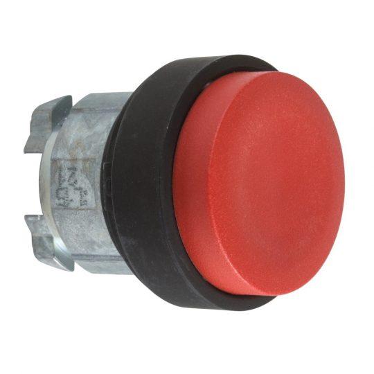 Schneider ZB4BL47 Harmony fém nyomógomb fej, Ø22, kiemelkedő, piros, visszatérő, fekete perem