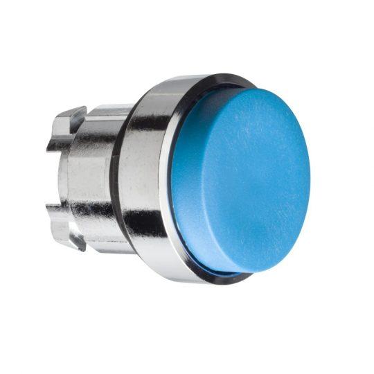 Schneider ZB4BL6 Harmony fém nyomógomb fej, Ø22, kiemelkedő, kék, visszatérő