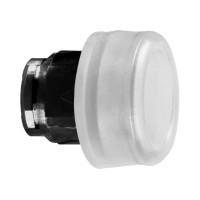 Schneider ZB4BP187 Harmony fém nyomógomb fej, Ø22, visszatérő, gumisapkás, betehető címke, fehér, fekete perem