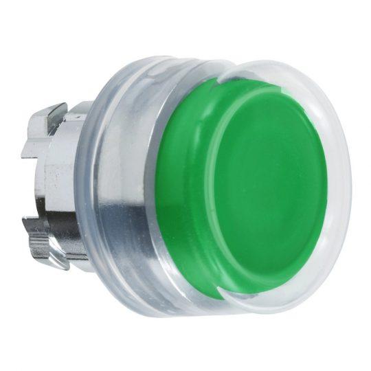Schneider ZB4BP3 Harmony fém nyomógomb fej, Ø22, visszatérő, kiemelkedő, gumisapkás, zöld