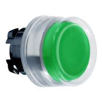 Schneider ZB4BP37 Harmony fém nyomógomb fej, Ø22, visszatérő, kiemelkedő, gumisapkás, zöld, fekete perem