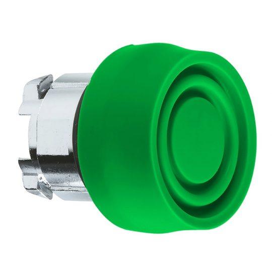 Schneider ZB4BP3S Harmony fém nyomógomb fej, Ø22, visszatérő, színes gumisapkás, zöld