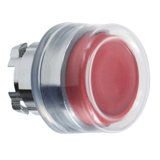 Schneider ZB4BP4 Harmony fém nyomógomb fej, Ø22, visszatérő, kiemelkedő, gumisapkás, piros