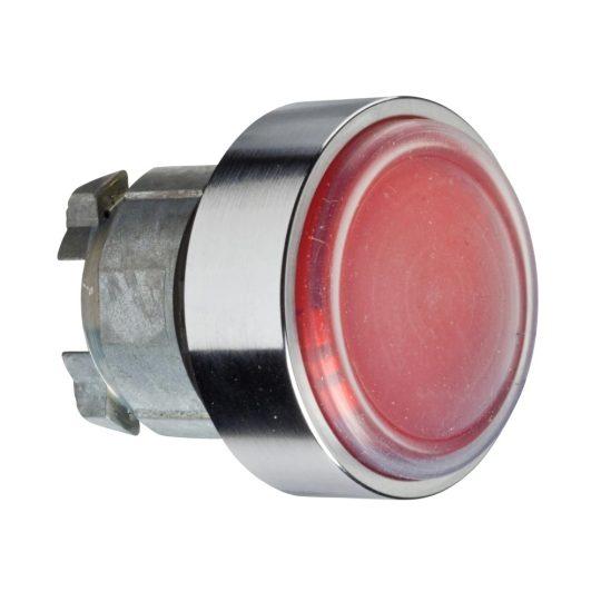 Schneider ZB4BP483 Harmony fém nyomógomb fej, Ø22, visszatérő, védőmembrán, betehető címke, piros