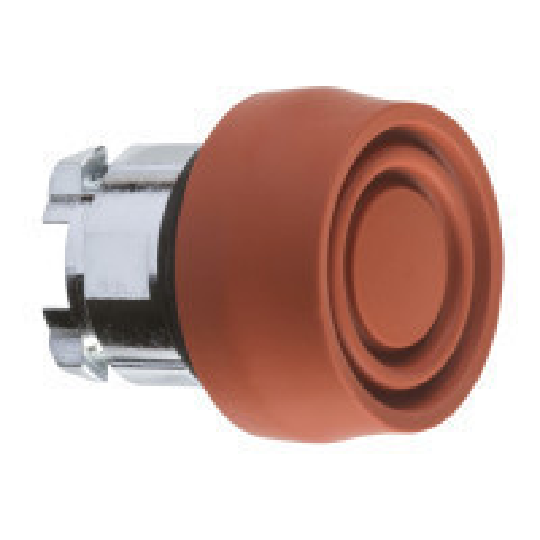 Schneider ZB4BP4S Harmony fém nyomógomb fej, Ø22, visszatérő, színes gumisapkás, piros
