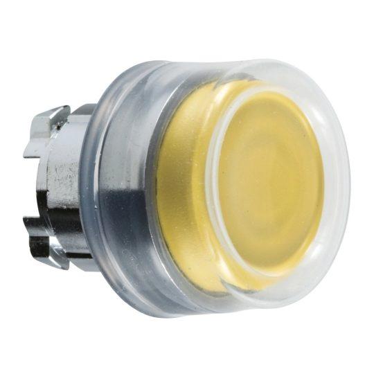 Schneider ZB4BP5 Harmony fém nyomógomb fej, Ø22, visszatérő, kiemelkedő, gumisapkás, sárga
