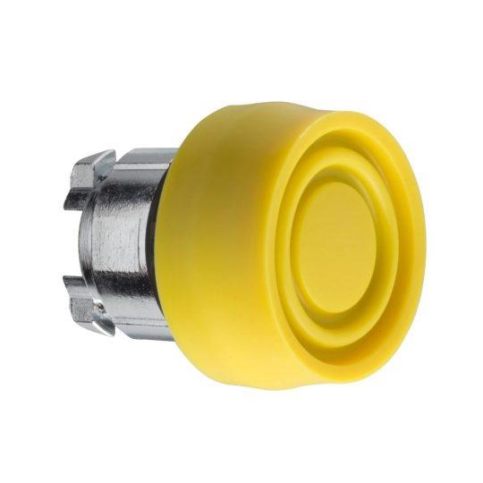 Schneider ZB4BP5S Harmony fém nyomógomb fej, Ø22, visszatérő, színes gumisapkás, sárga