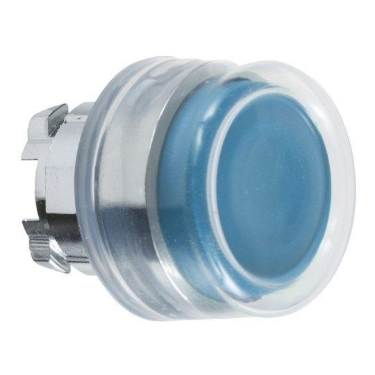 Schneider ZB4BP6 Harmony fém nyomógomb fej, Ø22, visszatérő, kiemelkedő, gumisapkás, kék