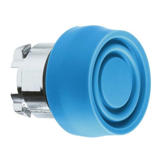 Schneider ZB4BP6S Harmony fém nyomógomb fej, Ø22, visszatérő, színes gumisapkás, kék