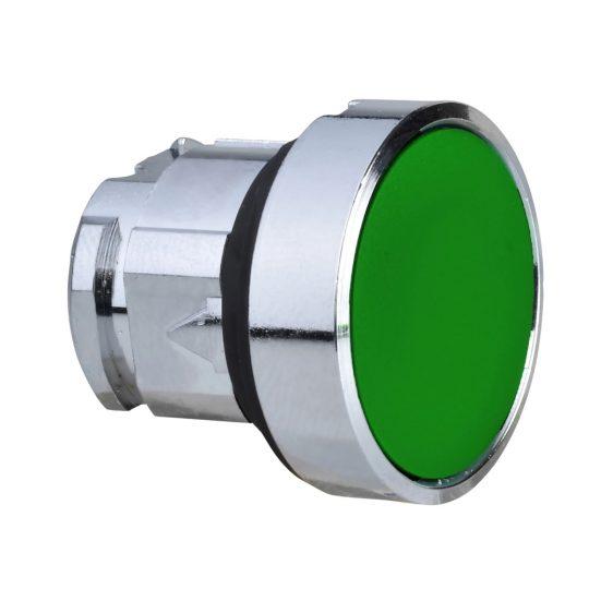 Schneider ZB4BPA3 Harmony fém nyomógomb fej, Ø22, visszatérő, gumisapkás, zöld