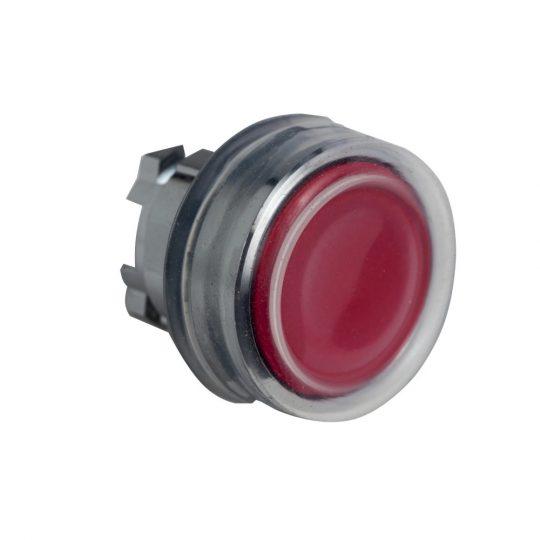 Schneider ZB4BPA4 Harmony fém nyomógomb fej, Ø22, visszatérő, gumisapkás, piros