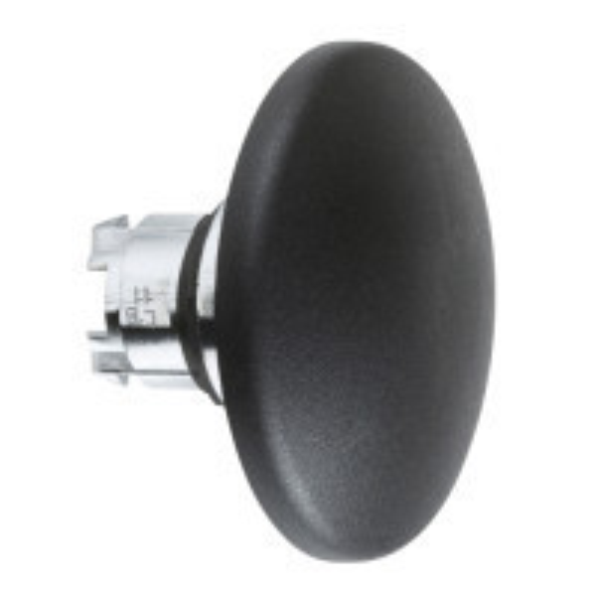 Schneider ZB4BR216 Harmony fém nyomógomb fej, Ø22, visszatérő, Ø60 íves gombafejű, fekete