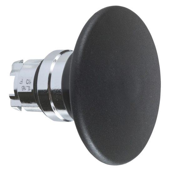 Schneider ZB4BR2TQ Harmony fém nyomógomb fej, Ø22, visszatérő, Ø60 gombafejű, fekete 100 darabos csomagban