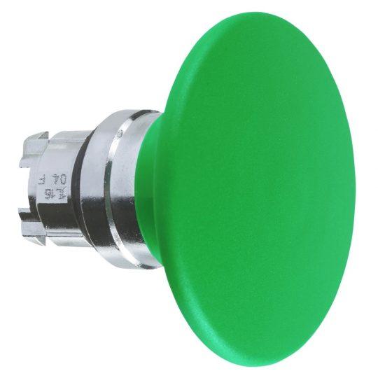 Schneider ZB4BR316 Harmony fém nyomógomb fej, Ø22, visszatérő, Ø60 íves gombafejű, zöld