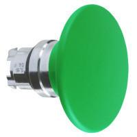 Schneider ZB4BR37 Harmony fém nyomógomb fej, Ø22, visszatérő, Ø60 gombafejű, zöld, fekete test