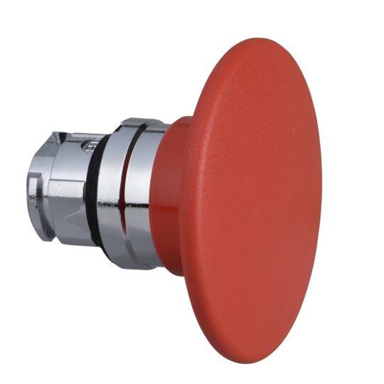 Schneider ZB4BR4 Harmony fém nyomógomb fej, Ø22, visszatérő, Ø60 gombafejű, piros