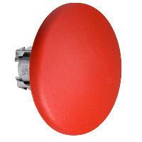 Schneider ZB4BR416 Harmony fém nyomógomb fej, Ø22, visszatérő, Ø60 íves gombafejű, piros