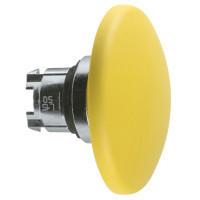 Schneider ZB4BR516 Harmony fém nyomógomb fej, Ø22, visszatérő, Ø60 íves gombafejű, sárga
