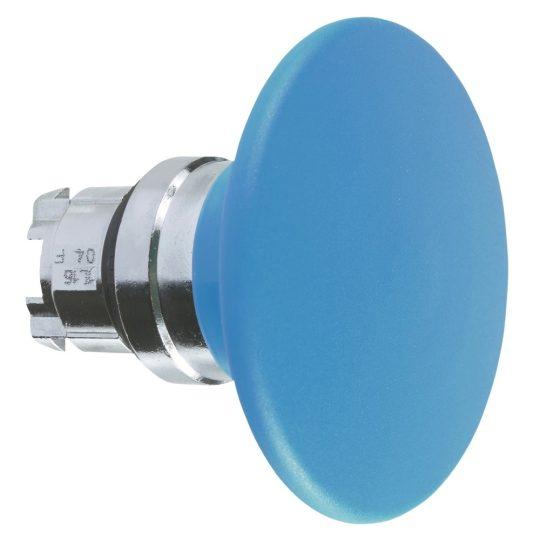 Schneider ZB4BR6 Harmony fém nyomógomb fej, Ø22, visszatérő, Ø60 gombafejű, kék