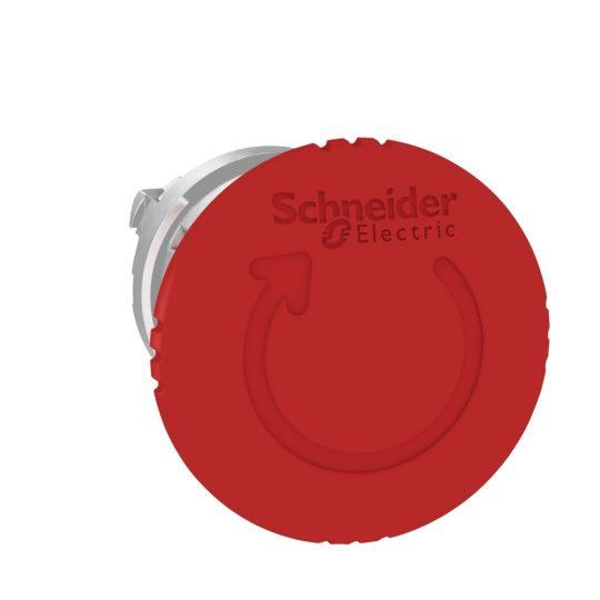 Schneider ZB4BS844 Harmony fém vészleállító nyomógomb fej, Ø22, Ø40 gombafejű, forgatásra kioldó, piros