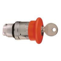 Schneider ZB4BS944TQ Harmony fém vészleállító nyomógomb fej, Ø22, Ø40 gombafejű, 455 kulccsal kioldó, piros 100 darabos csomagban