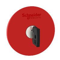 Schneider ZB4BS96420 Harmony fém vészleállító nyomógomb fej, Ø22, Ø60 gombafejű, 3131A kulccsal kioldó, piros