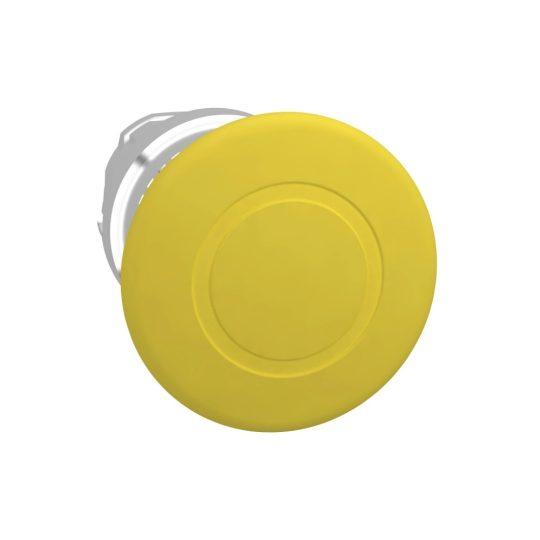 Schneider ZB4BT5 Harmony fém nyomógomb fej, Ø22, Ø40 gombafejű, húzásra kioldó, sárga
