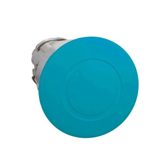 Schneider ZB4BT6 Harmony fém nyomógomb fej, Ø22, Ø40 gombafejű, húzásra kioldó, kék
