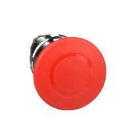 Schneider ZB4BT84 Harmony fém vészleállító nyomógomb fej, Ø22, Ø40 gombafejű, húzásra kioldó, piros