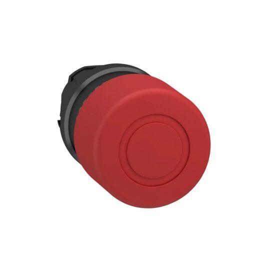 Schneider ZB4BT847 Harmony fém vészleállító nyomógomb fej, Ø22, Ø40 gombafejű, húzásra kioldó, piros, fekete test
