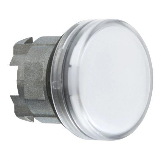 Schneider ZB4BV01S Harmony fém jelzőlámpa fej, Ø22, BA9s izzós jelzőlámpához, hornyolt lencse, fehér
