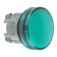 Schneider ZB4BV03TQ Harmony fém jelzőlámpa fej, Ø22, BA9s izzós jelzőlámpához, zöld 100 darabos csomagban