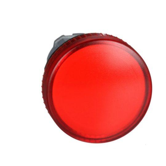 Schneider ZB4BV04 Harmony fém jelzőlámpa fej, Ø22, BA9s izzós jelzőlámpához, piros