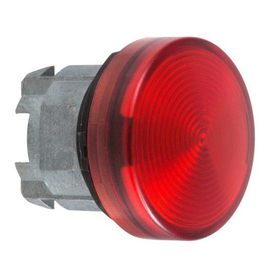 Schneider ZB4BV043S Harmony fém jelzőlámpa fej, Ø22, LED jelzőlámpához, hornyolt lencse, piros
