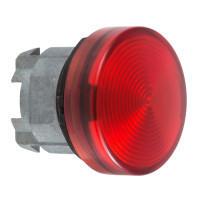 Schneider ZB4BV04S Harmony fém jelzőlámpa fej, Ø22, BA9s izzós jelzőlámpához, hornyolt lencse, piros