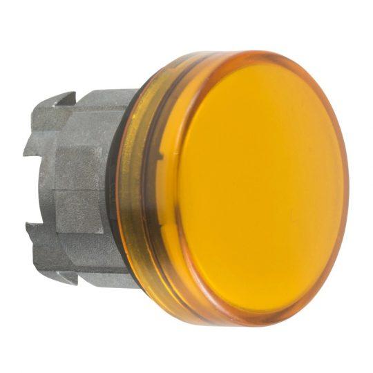 Schneider ZB4BV053E Harmony fém jelzőlámpa fej, Ø22, LED jelzőlámpához, betehető címke, narancssárga