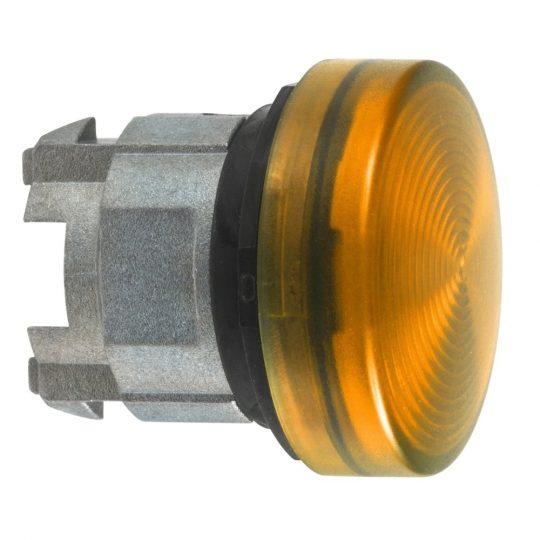 Schneider ZB4BV05S Harmony fém jelzőlámpa fej, Ø22, BA9s izzós jelzőlámpához, hornyolt lencse, narancssárga