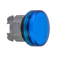 Schneider ZB4BV063E Harmony fém jelzőlámpa fej, Ø22, LED jelzőlámpához, betehető címke, kék