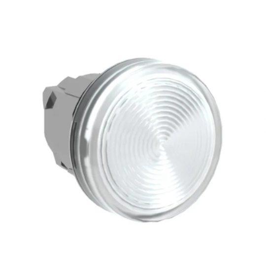 Schneider ZB4BV07 Harmony fém jelzőlámpa fej, Ø22, BA9s izzós jelzőlámpához, átlátszó