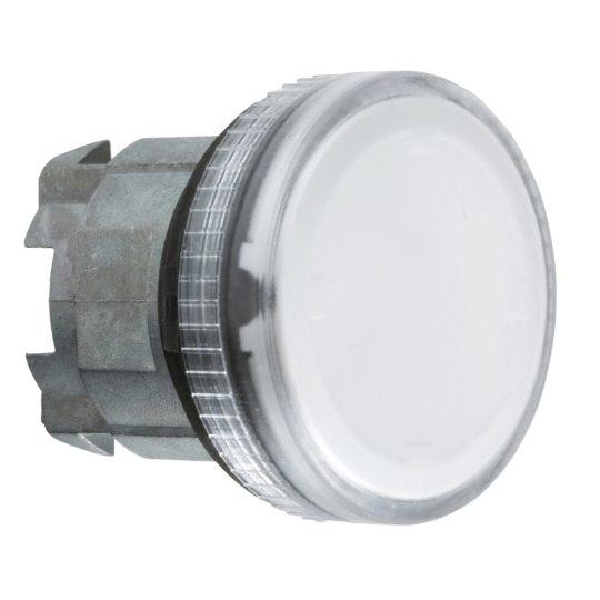 Schneider ZB4BV07S Harmony fém jelzőlámpa fej, Ø22, BA9s izzós jelzőlámpához, hornyolt lencse, átlátszó