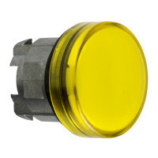 Schneider ZB4BV083E Harmony fém jelzőlámpa fej, Ø22, LED jelzőlámpához, betehető címke, sárga