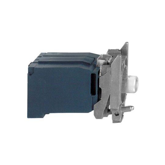 Schneider ZB4BV4 Harmony fém jelzőlámpa BA9s izzós blokk rögzítő aljzattal, 230VAC